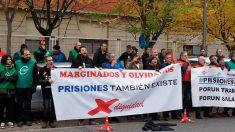 La Central Sindical Independiente y de Funcionarios (CSIF) junto con los sindicatos ACAIP, CCOO, CIG y UGT, que integran la Plataforma Sindical de Prisiones, en una concentración en Logroño. Foto: Europa Press