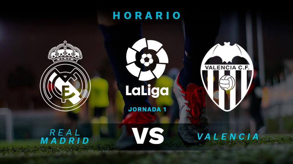 Liga Santander 2018-2019: Real Madrid – Valencia   Horario del partido de fútbol de Liga Santander.