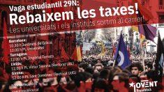 Las juventudes de ERC se manifiestan contra su Govern