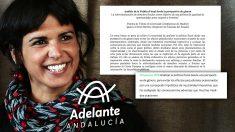 Teresa Rodríguez, candidata de 'Adelante Andalucía' a la Junta.