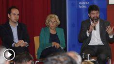 José Manuel Calvo, Manuela Carmena y Carlos Sánchez Mato. (Foto. Madrid)