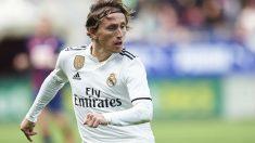 Luka Modric, durante un partido con el Real Madrid. (Getty)