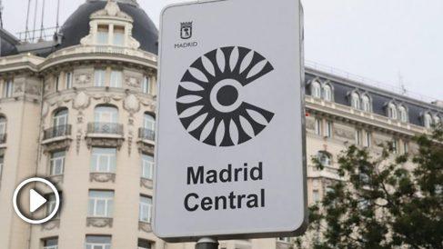 Una señal de Madrid Central. (Foto. Madrid)