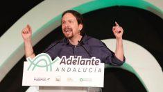 Pablo Iglesias en Andalucía (EP).