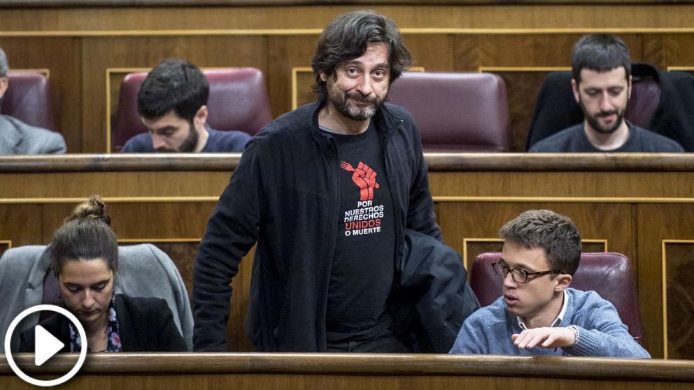 El diputado Rafael Mayoral, vocal de Podemos en la comisión de la crisis bancaria.