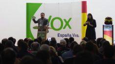 Santiago Abascal este jueves en Almería (RRSS).