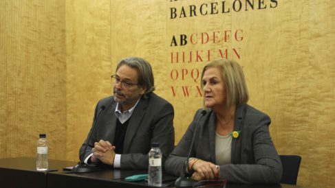Los ex presidentes del Parlament de Cataluña, Ernest Benach y Núria de Gispert (Foto: ANC)
