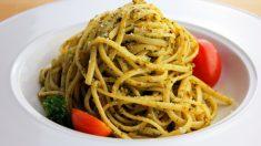 Receta de Espaguetis con salsa de almendras