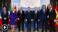Cumbre del G-20 en Argentina con Pedro Sánchez, Theresa May y Emmanuel Macron entre otros líderes europeos. Foto: Europa Press