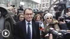 Artur Mas tras declarar en el Tribunal Supremo (Foto: Francisco Toledo).