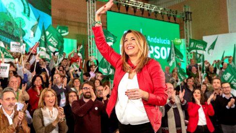 Susana Díaz en el acto de cierre de campaña (Foto: EFE).