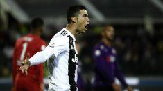 Cristiano Ronaldo celebra su gol en el Fiorentina – Juventus. (AFP)