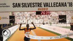 Kiplimo, ganador y récord histórico en la San Silvestre 2018. (EFE)