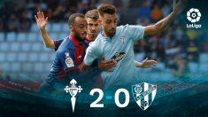 El Celta se impuso al Huesca (2-0) gracias a un doblete de Aspas.