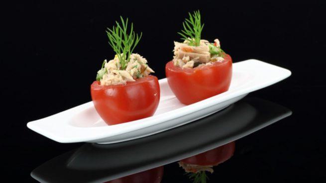 Tomates cherry rellenos de paté