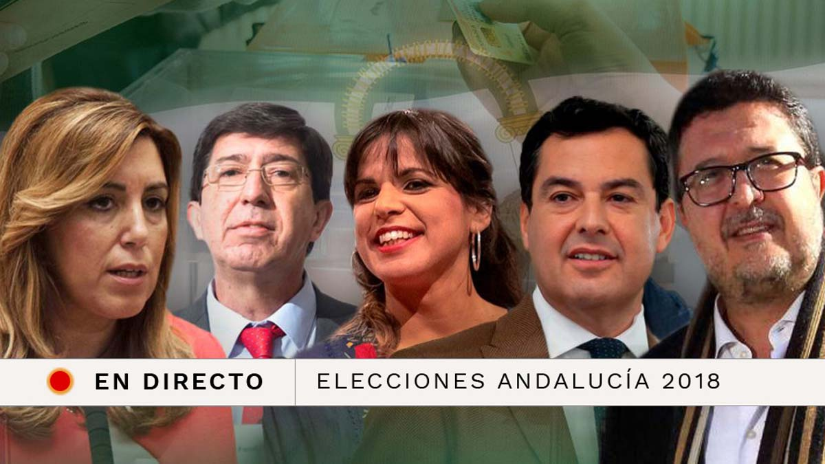Sigue la última hora de las elecciones andaluzas 2018. Candidatos, escrutinio, participación y resultados.