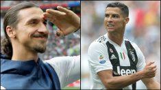 Zlatan Ibrahimovic y Cristiano Ronaldo.