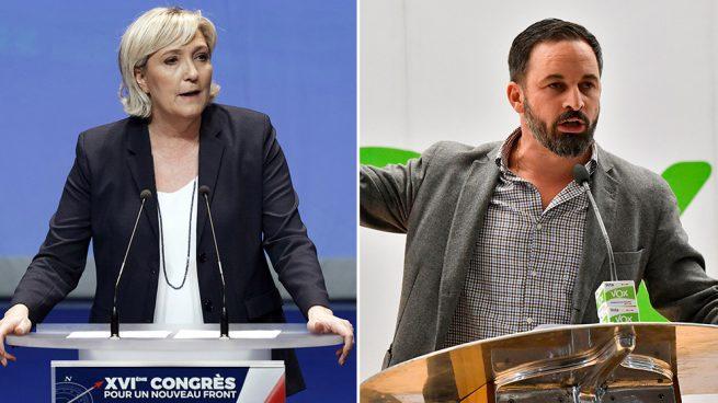 Le Pen felicita a Abascal por el éxito de VOX en Andalucía