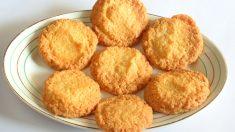 Receta de galletas de harina de coco