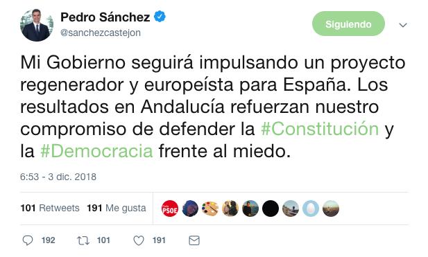 Sánchez no acepta la derrota en Andalucía y abraza el frente contra VOX ofrecido por Iglesias