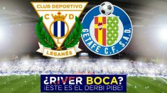 Cartel del Leganés-Getafe, que se juega dos días antes del River-Boca. (C.D. Leganés)