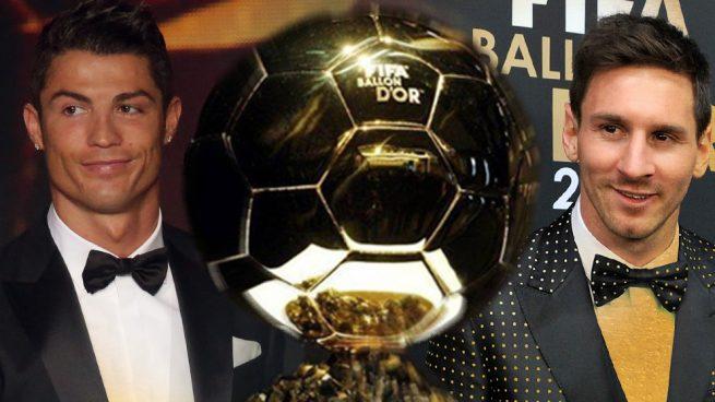 Cristiano y Messi prestan el Balón de Oro diez años después