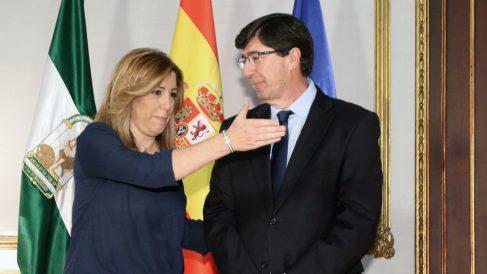 Susana Díaz y Juan Marín. (Foto: EP)