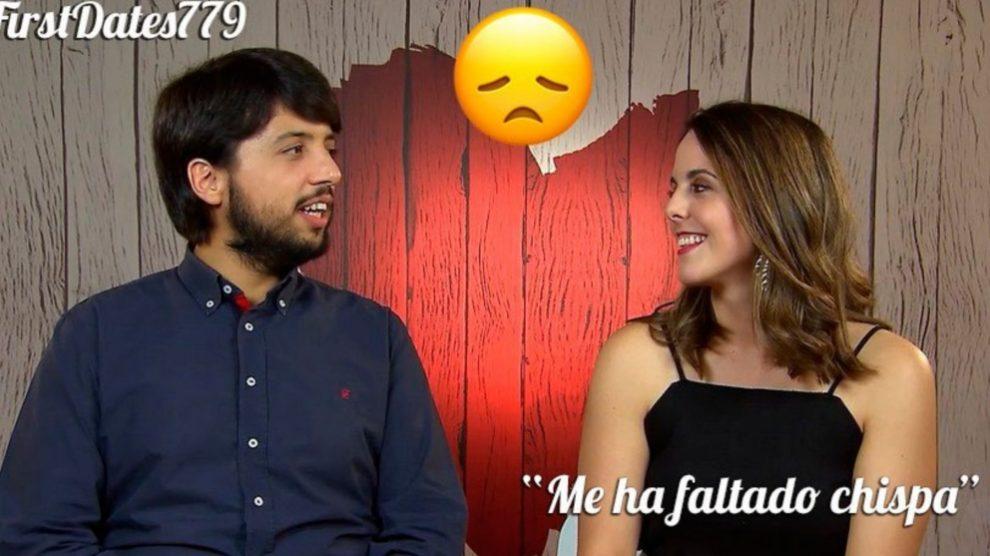 Sandra no entendía que Javier no pudiera ser su seguidor fuera de 'First Dates'