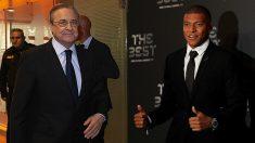 Florentino Pérez y Kylian Mbappé.