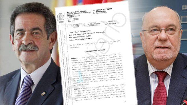 El consejero 'sanchista' Juan José Sota y Miguel Ángel Revilla