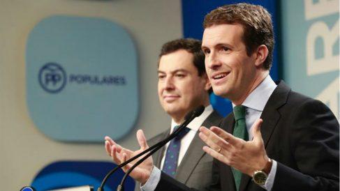 Pablo Casado con Juama Moreno (EFE).