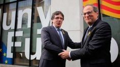 Quim Torra y Carles Puigdemont en Bélgica. Foto: @Govern