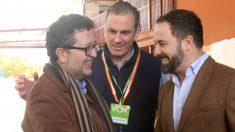 Francisco Serrano y Santiago Abascal en Sevilla. Foto: Europa Press