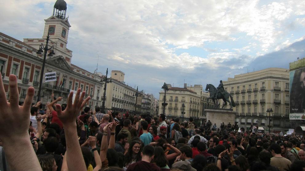 Movimiento 15M en Sol. Foto: Europa Press