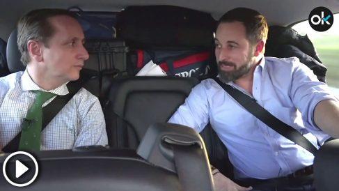 Santiago Abascal en la entrevista con OKDIARIO