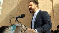 Santiago Abascal, líder de Vox, en una manifestación por la unión de España. (F: Enrique Falcón)