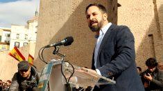 Santiago Abascal, líder de Vox, en la manifestación por la unión de España. (F: Enrique Falcón)