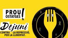 """El cartel de la ANC con el que anuncia una """"huelga colectiva"""" para apoyar a los políticos presos"""
