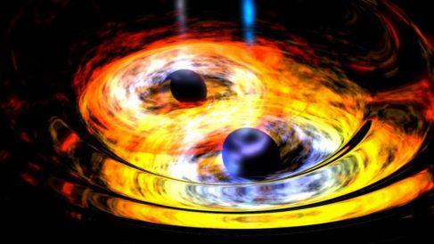 Conoce cómo es la mayor colisión de agujeros negros de la historia