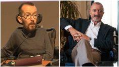 Pablo Echenique y Arturo Pérez-Reverte