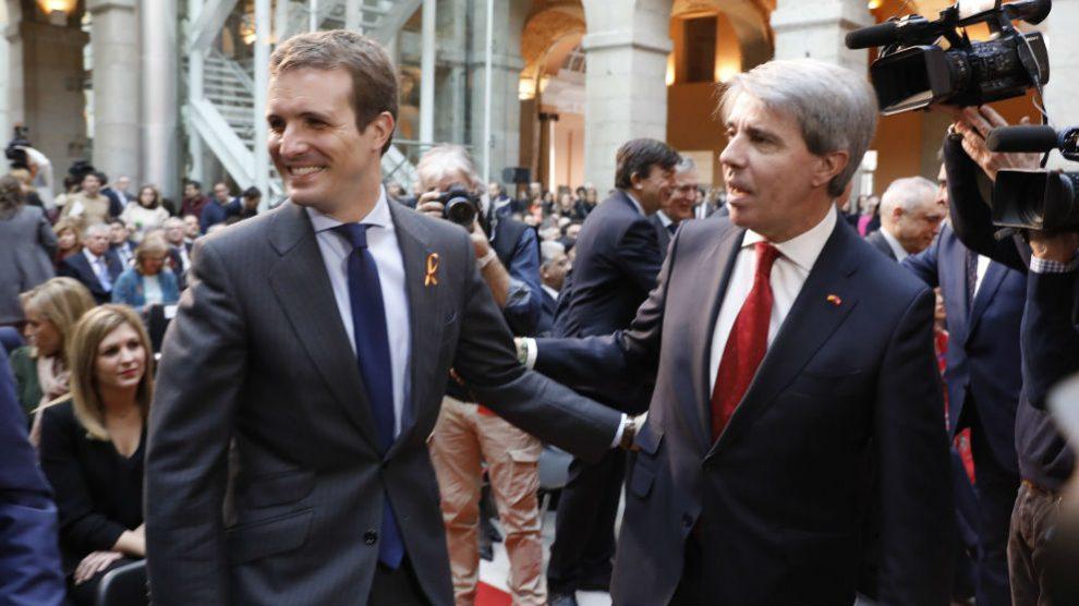 Pablo Casado y Ángel Garrido. Foto: Europa Press