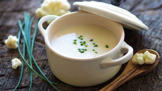 crema de coliflor y queso