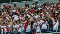 Aficionados de River Plate durante un partido. (Getty)