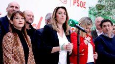 Comparecencia de Susana Díaz tras los resultados electorales en Andalucía. (F: Enrique Falcón)