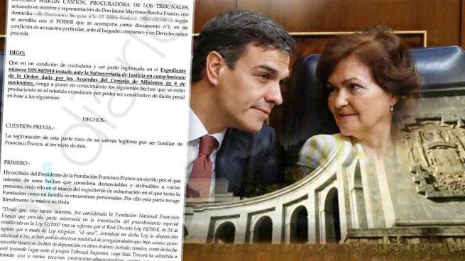 Los Franco denuncian al Gobierno porque el expediente de exhumación lo firmó un falso alto cargo
