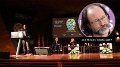 Luis Miguel Domínguez, en el acto organizado por Manuela Carmena