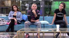 Los tres nominados de esta semana en 'GH VIP 2018'. (Foto: Telecinco)