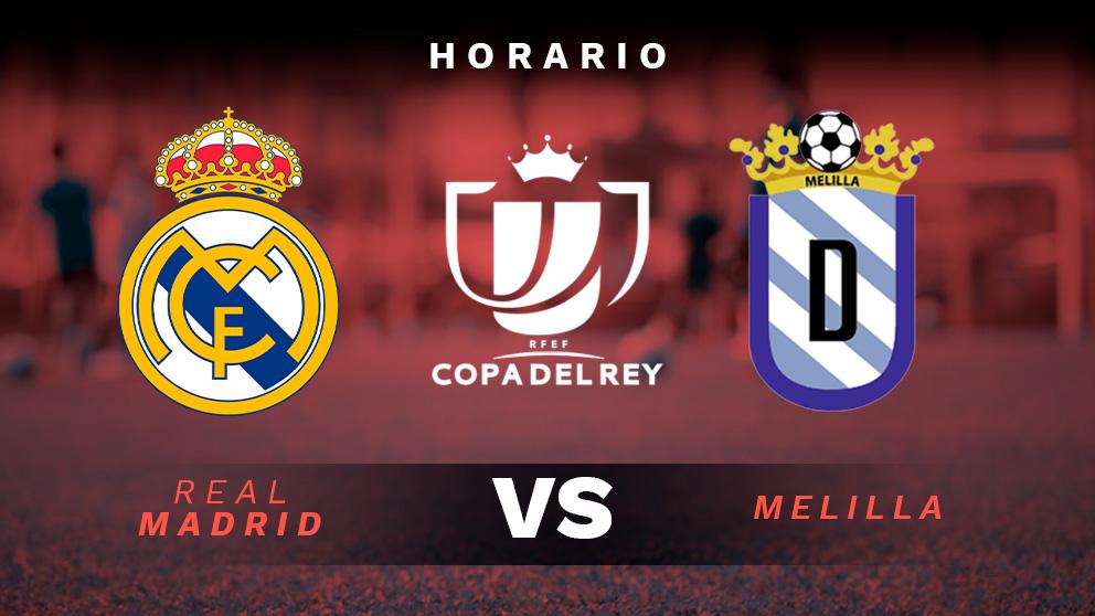 Copa del Rey 2018: Real Madrid – Melilla | Horario del partido de fútbol de Copa del Rey.