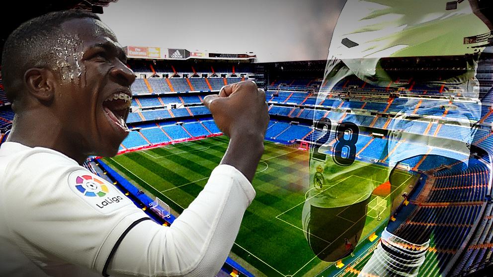Vinicius debutará como titular en el Bernabéu.