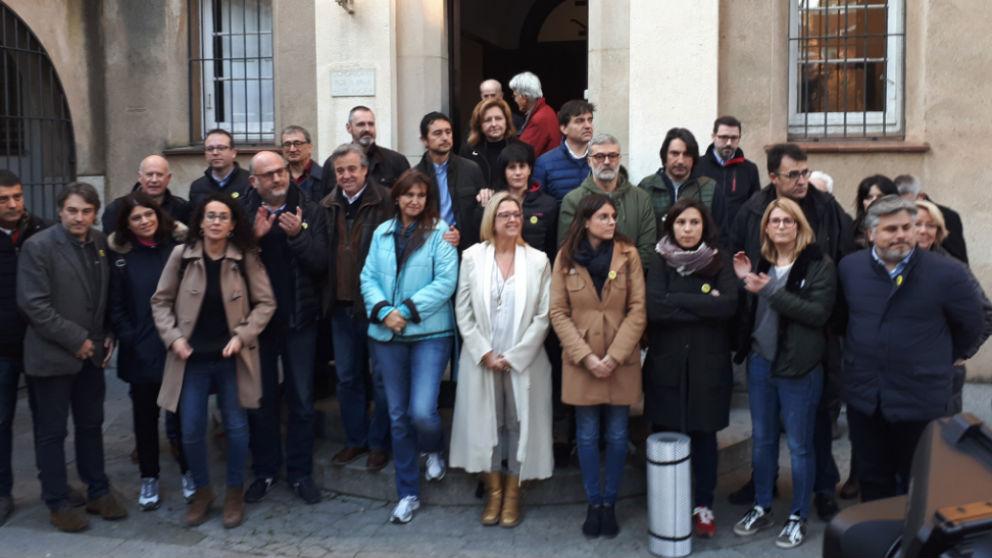 Políticos del JxCAT, ERC y la CUP en el convento de los Capuchinos de Barcelona